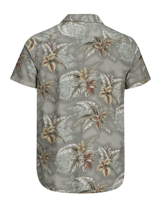 HAWAIIAN STYLE SHIRT DARK FOREST