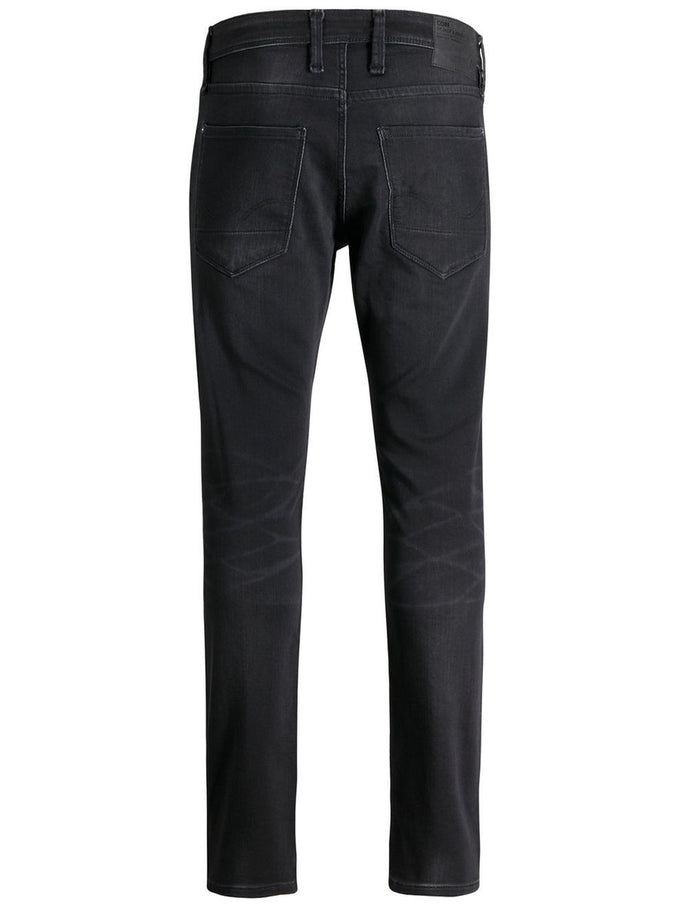 GLENN DASH 100 INDIGO KNIT STRETCH JEANS BLACK DENIM