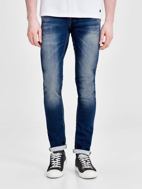 GLENN 103 INDIGO KNIT STRETCH SLIM FIT JEANS