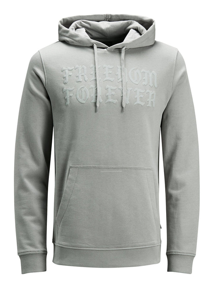 GOTHIC LETTER PRINT HOODIE GRIFFIN
