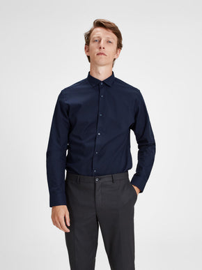 SLIM FIT MICRO-PATTERN DRESS SHIRT