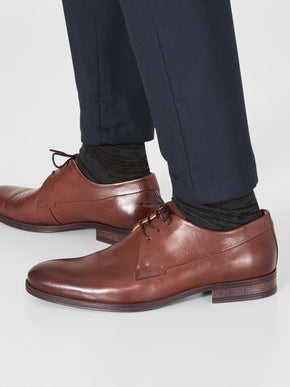 COGNAC LEATHER DRESS SHOES