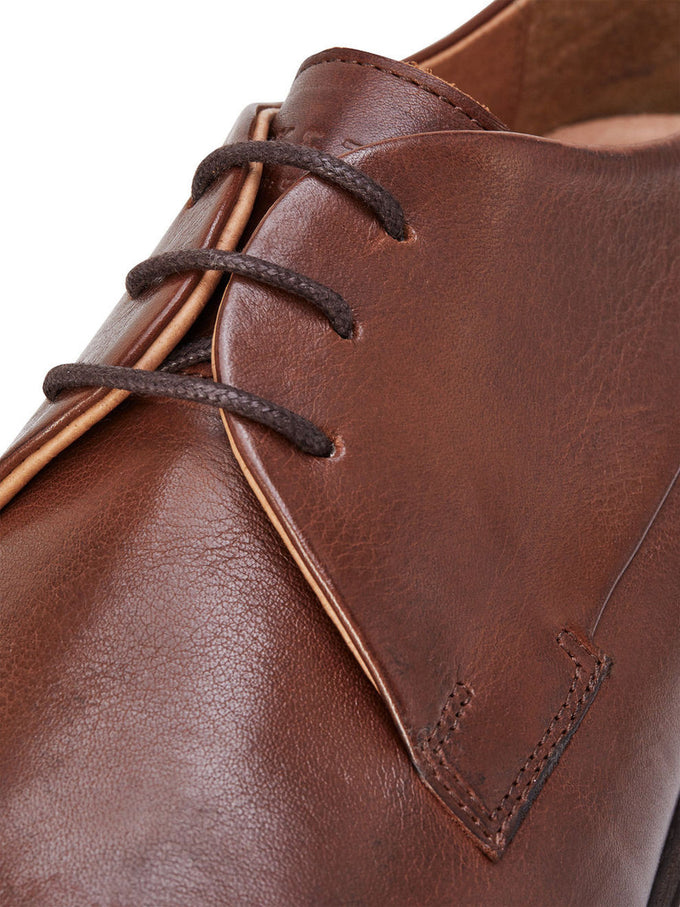 COGNAC LEATHER DRESS SHOES COGNAC