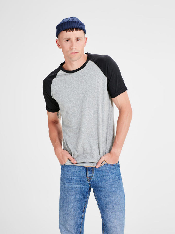 BASEBALL STYLE SHORT SLEEVE T-SHIRT CAVIAR