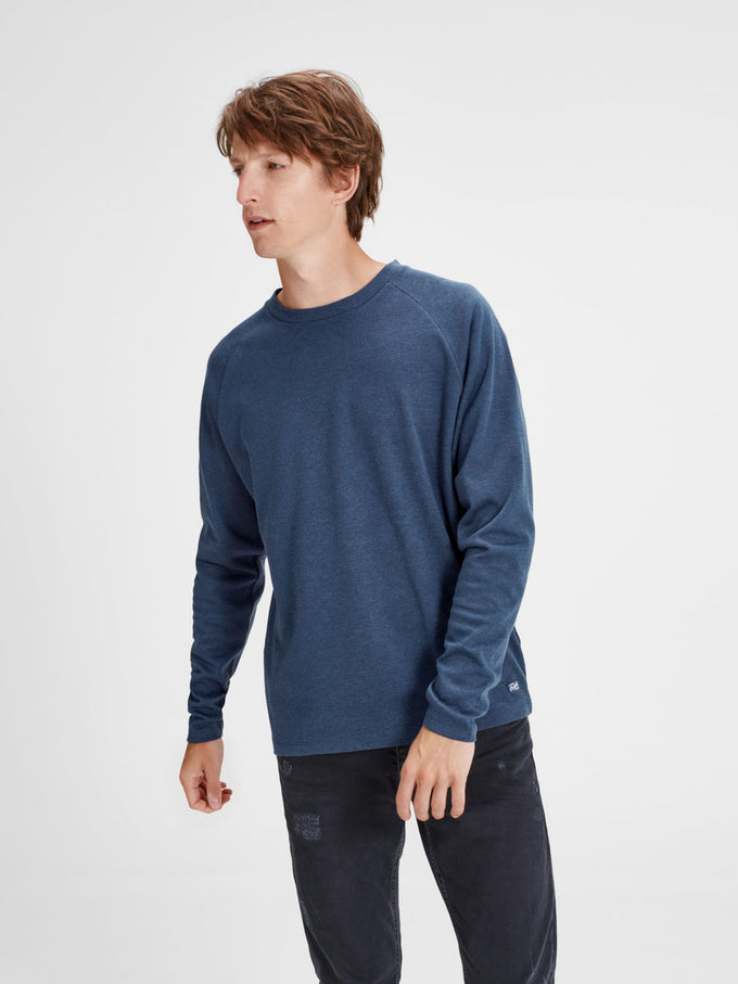 Sweatshirt Blue Originals Ribbed Sweatshirt Blue Originals Originals Texture Ribbed Ribbed Ribbed Texture Blue Texture Sweatshirt 0Yqxw4A