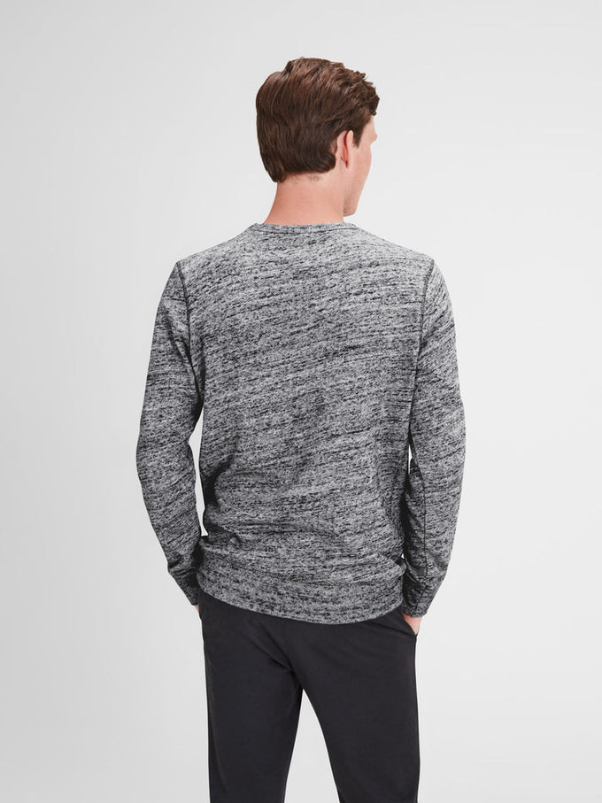 HEATHERED STYLE VINTAGE SWEATSHIRT LIGHT GREY MELANGE