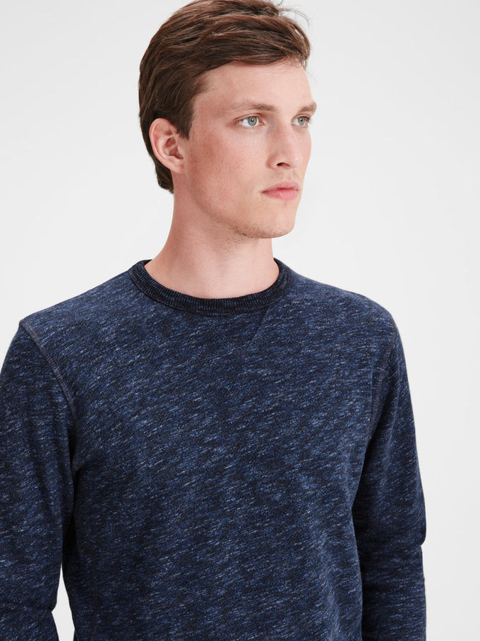 HEATHERED STYLE VINTAGE SWEATSHIRT MOOD INDIGO