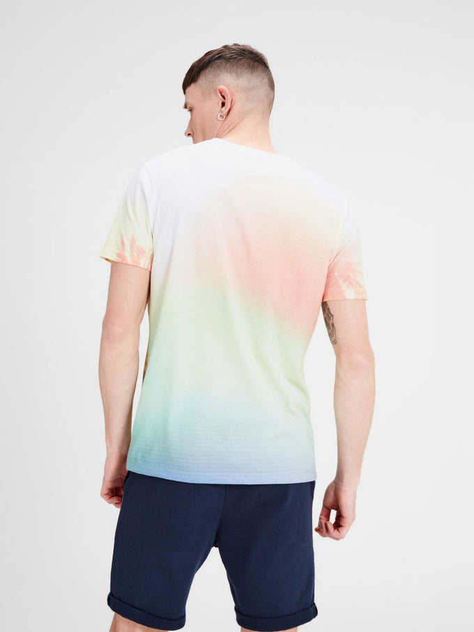 COLOR GRADIENT BEACH PRINT T-SHIRT CLOUD/BEACH