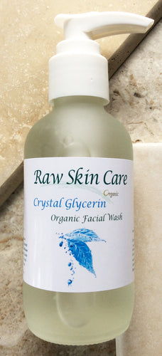 Crystal Glycerin Organic Facial Wash 4oz. A Super Hydrating Facial Wash for Everyone.!