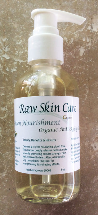 Golden Nourishment Cleanser for Daily Anti-Aging Cellular Strength ~ 2oz. ~ 4oz.