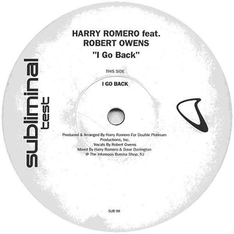 "Harry Romero - I Go Back: The Remixes 12"" LP"