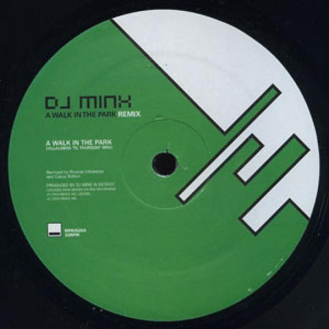 "DJ Minx - A Walk In The Park 12"" LP"