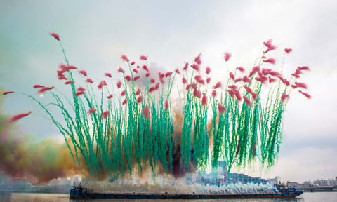 Firework Installation by artist Cai Guo Qiang