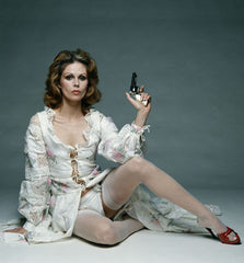Joanna Lumley as Purdey in the New Avengers, c.1976, dressed by Catherine Buckley