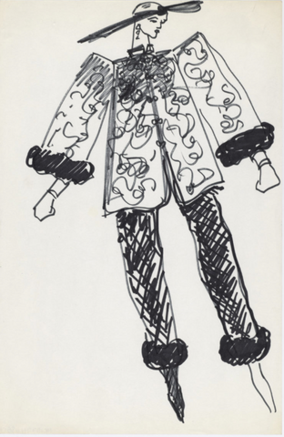 Sketch from Yves Saint Laurent's Chinese Collection