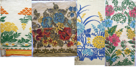Antique Jacquard fabric from 1880 - 1930, Catherine Buckley