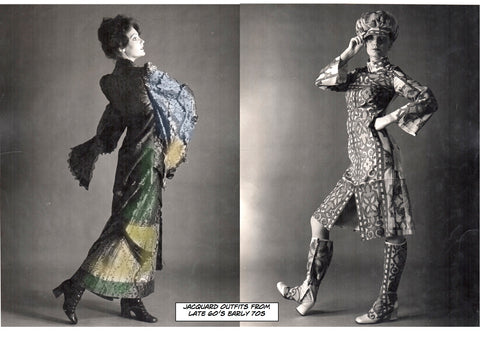 Catherine Buckley Jacquard outfits from late 60s/early 70s