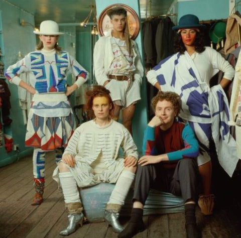 Vivienne Westwood in Savages Dress, c.1982