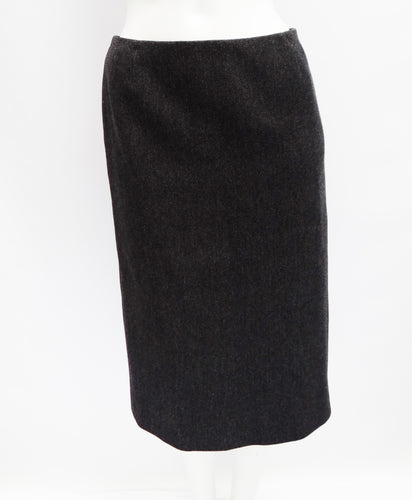 Prada Charcoal Grey Wool Pencil Skirt, UK10