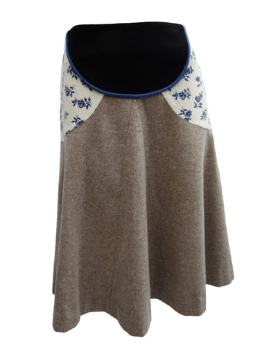 Eley Kishimoto Felted Wool A-line Skirt, UK10-12