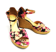 Paul Smith Floral Silk Espadrille Wedges, UK6.5
