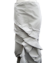 Sylvia Heise Silver Grey Taffeta Tiered Ruffle Skirt, UK10