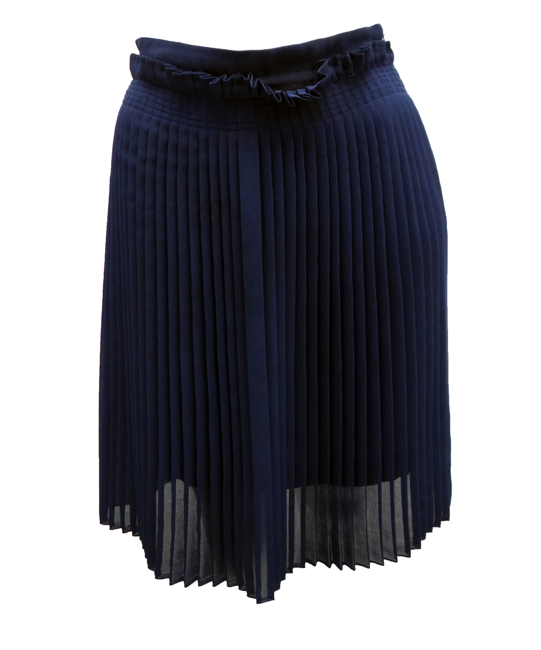 Annemie Verbeke Navy Pleated Skirt, UK8-10