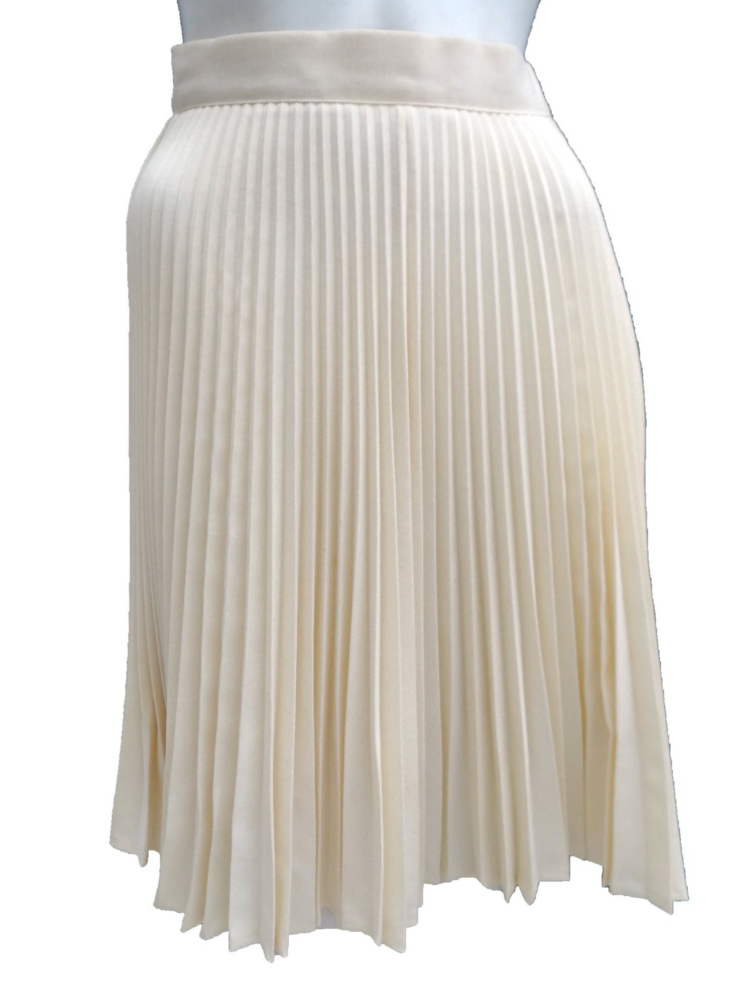 Vintage Mangold Pleated Cream Skirt, 1960s, UK6-8