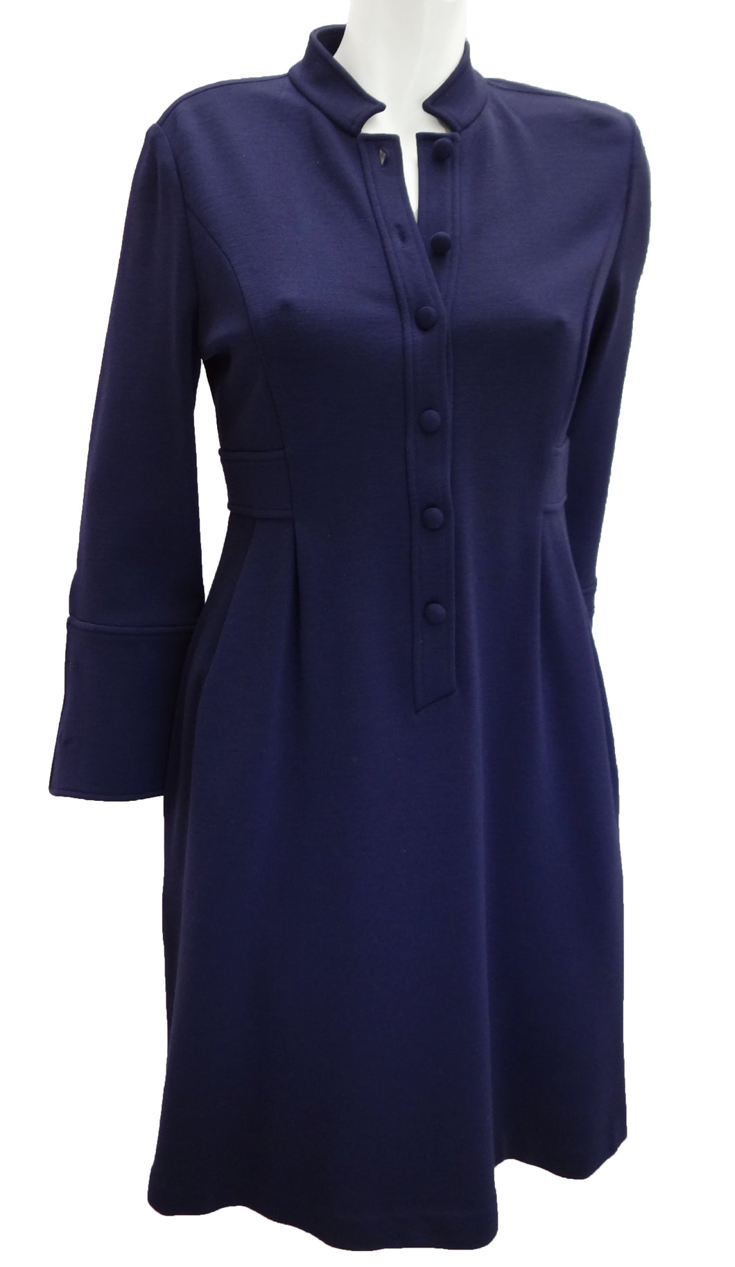 Diane von Furstenberg Purple Wool Shirt Dress UK10