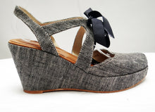 Penelope Chilvers Canvas Platform Wedge Shoes, UK7