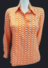 Vintage Hermes Sport Graphic H Silk Shirt, c.1970s, UK10