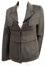 Marni Pewter Deconstructed Jacket UK10