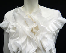Junya Watanabe for Comme des Garçons White Top with Ruffles, UK10