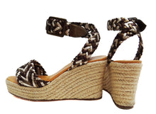 Hermes Rope Soled Platform Wedges with Plaited Straps, UK4
