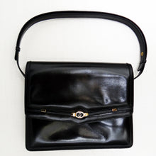 Vintage Gucci Handbag in Black Leather, c.1960s
