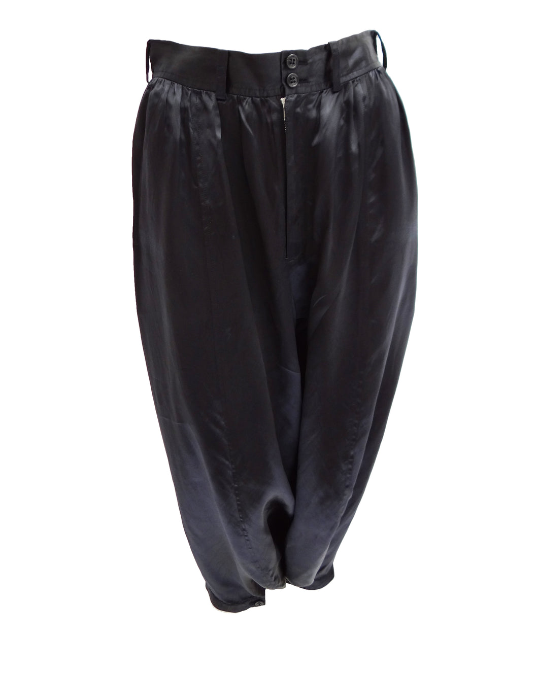 Comme des Garcons Black Satin Harem Trousers, UK10