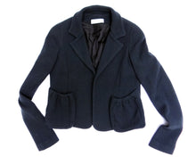 Aquascutum Cropped Wool Jacket with Gathered Pockets, UK8-10
