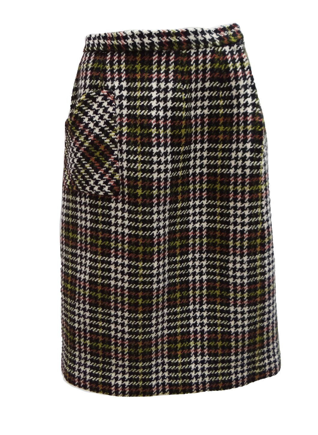 Vintage Tweed Skirt with Heart-Shaped pocket, UK10