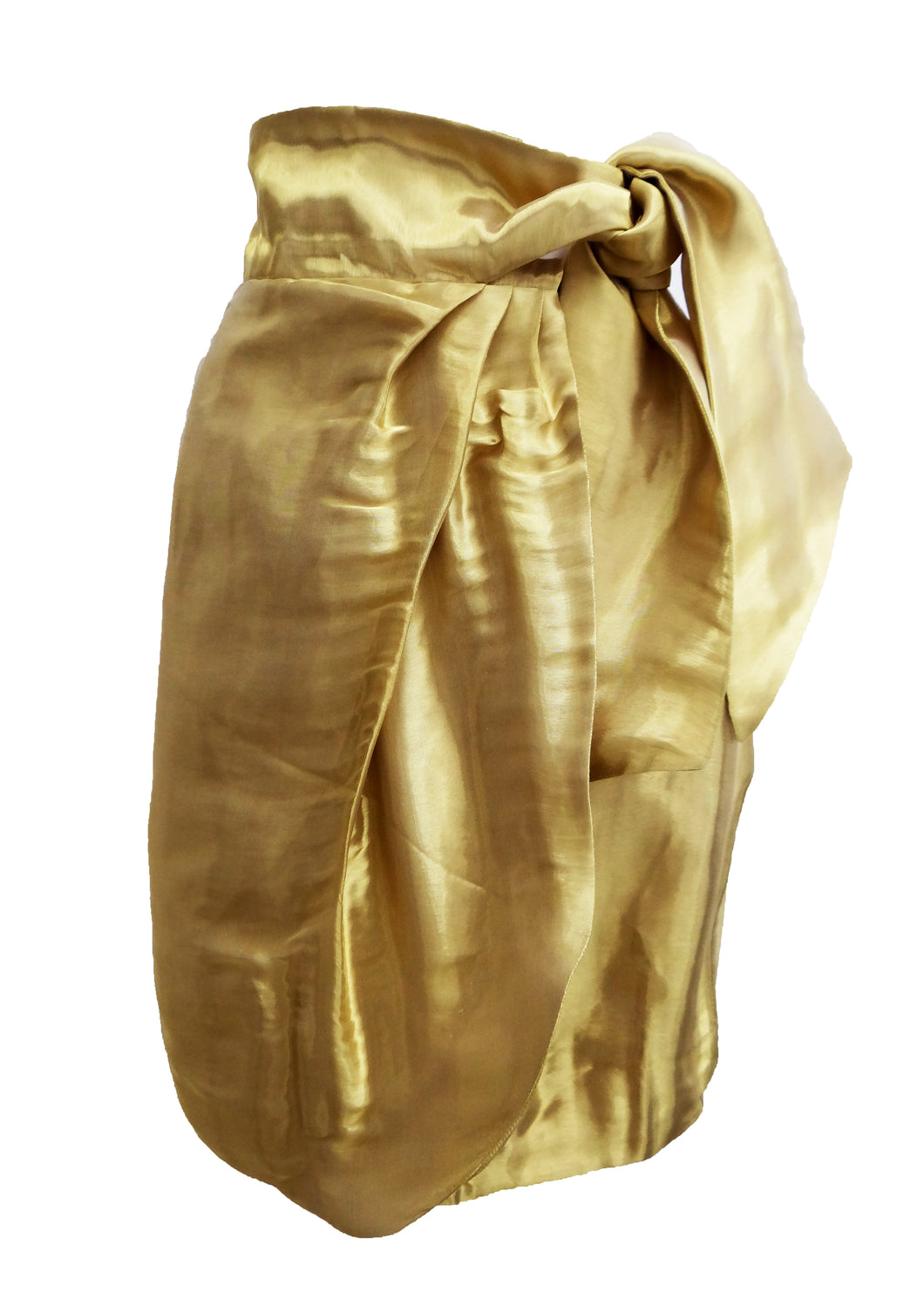 Issa Liquid Gold Organza Wrap Skirt, UK8-10