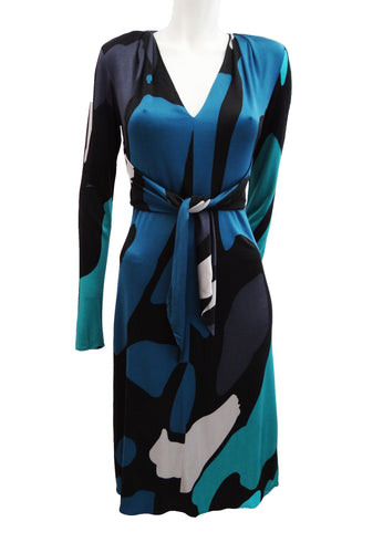 Issa Slinky Abstract Print Dress, UK10