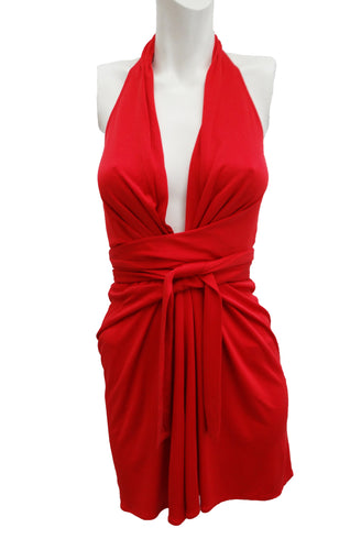 Issa Halter Top in Fiery Red, UK10