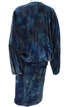 Vintage Catherine Buckley Crushed Velvet Batwing Suit UK10-12
