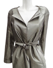 Roland Mouret Metallic Silk Evening Coat, UK10
