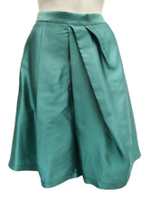 Moschino A-line Skirt in Aquamarine Silk UK12-14