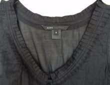 Marc Jacobs Empire Line Top in Black Lawn Cotton UK12