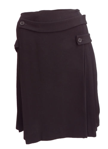 Joseph Bondage Kilt in Black Crepe UK10-12