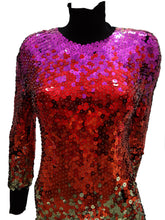 Vintage Ozbek Rainbow Sequinned Catsuit, c.1990 UK10