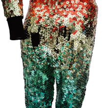 Vintage Ozbek Rainbow Sequinned Catsuit, c.1990