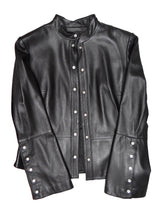 Anne Klein Black Leather Jacket, UK10-12