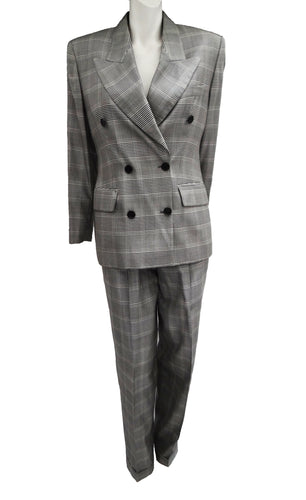 Gucci Trouser Suit in Prince of Wales Check, UK12